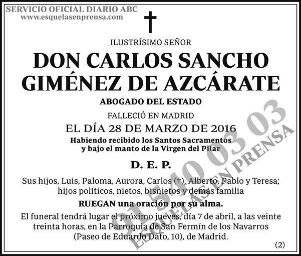 Carlos Sancho Giménez de Azcárate